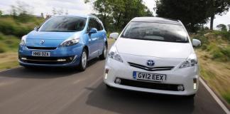 Toyota Prius и Renault Grand Scenic