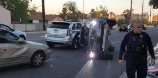 Беспилотник Uber попал в аварию