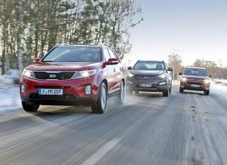 Kia Sorento, Hyundai Santa Fe, Mitsubishi Outlander