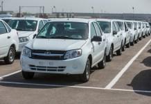 Автомобили «Лада» на складе «АвтоВАЗа»