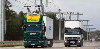Контактная сеть для электрических грузовиков