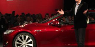 Илон Маск на презентации Tesla Model 3