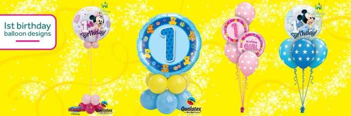 Cardiff Balloons Offer 1st Birthday Balloons