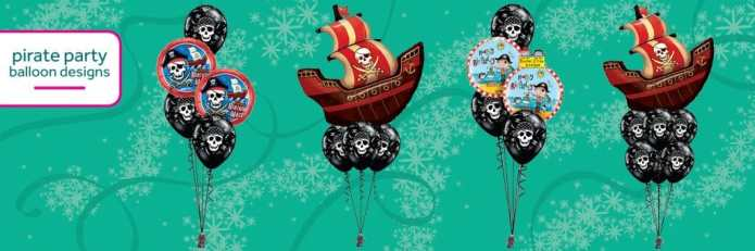 Balloons For A Pirate Party From Cardiff Balloons