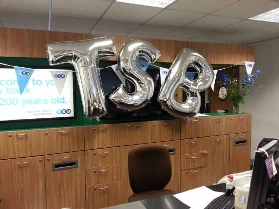 Giant Silver Letters by Cardiff Balloons