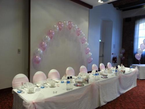 String Of Pearl Arch. At Novotel cardiff Bay