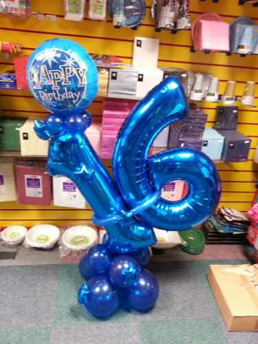 Giant 16 On a Slant #birthdayballoons from Cardiff Balloons