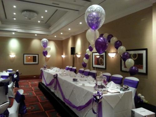 Elegant Wedding Balloons By Cardiff Balloons At Marriott Hotel Cardiff