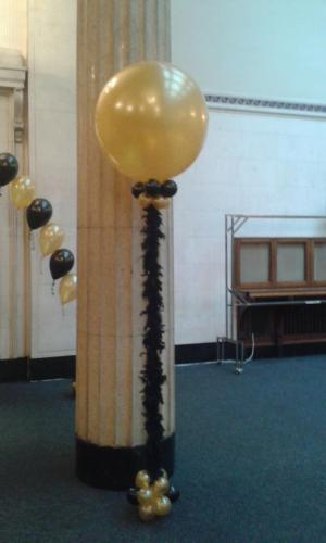 Giant 3' Balloon With a Feather Boa Trim by Cardiff Balloons