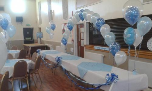 Complete Room Set Up For A Boy Christening