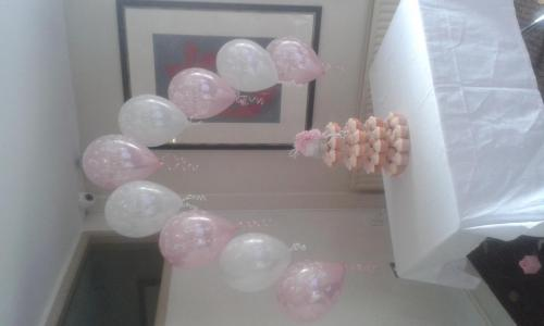 String Of Pearl Cake Arch. Great For Over A Christening Cake