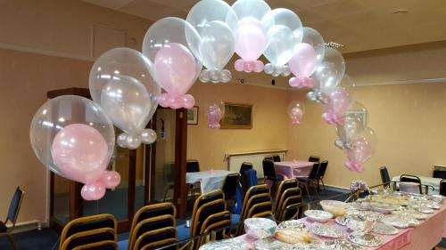 Double Bubble Balloon Arch In Christening Colours