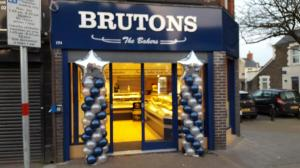 Brutons The Bakers have large pillars for their new store launch