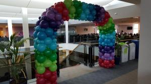 Linked Balloon Arch For Target In South Wales