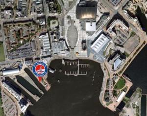 Cardiff Cruises location - Cardiff Bay