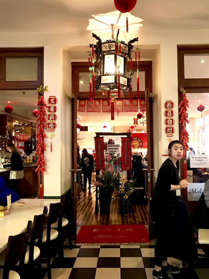 celebrating chinese new year at oriental garden, the red