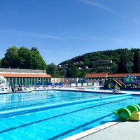A brilliant afternoon in the open air pool at Lido Ponty