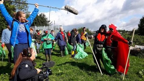 A BBC crew filming CRG