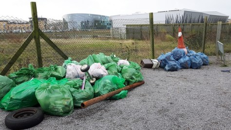 Lots of bags of rubbish