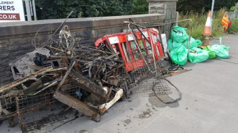 Assorted rubbish removed from the river