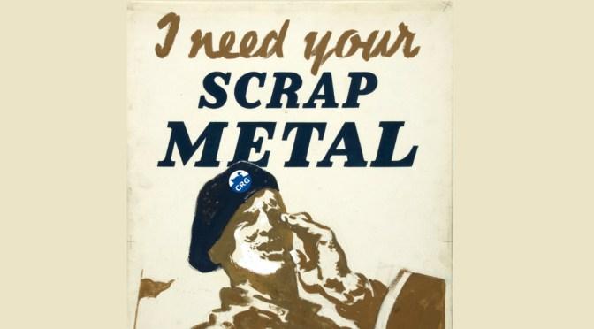 CRG Needs Your Scrap Metal!