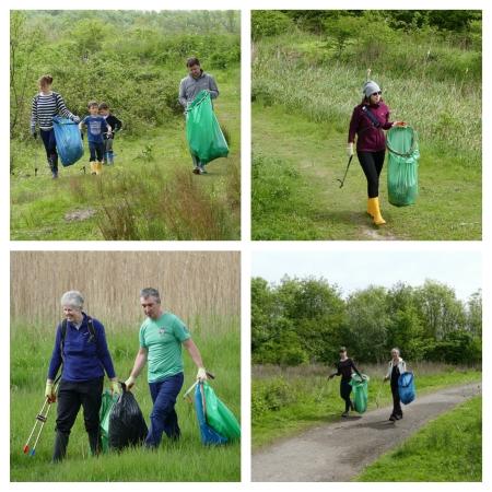 CRG volunteers, working in the sunshine