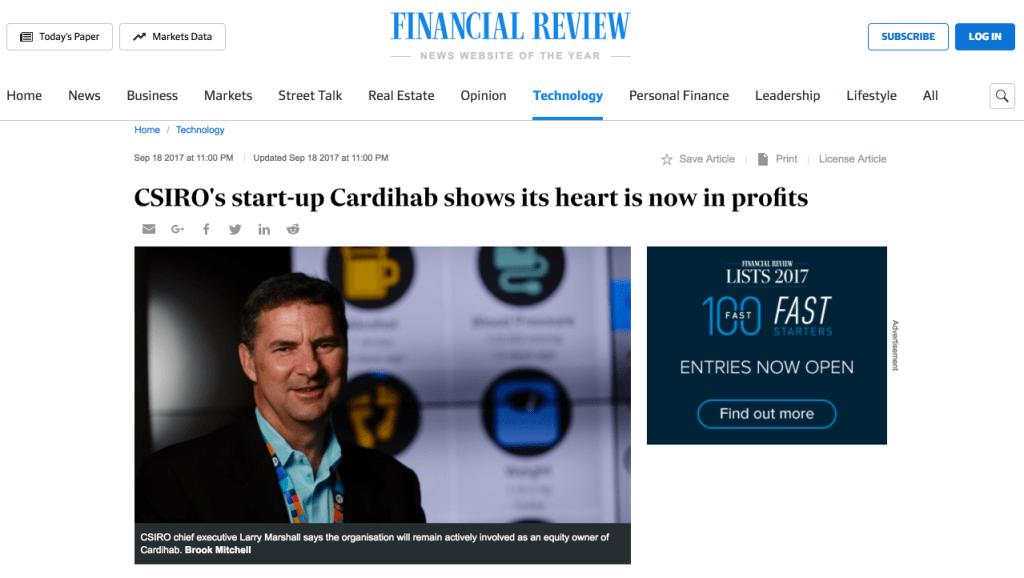 Australian Financial Review Article