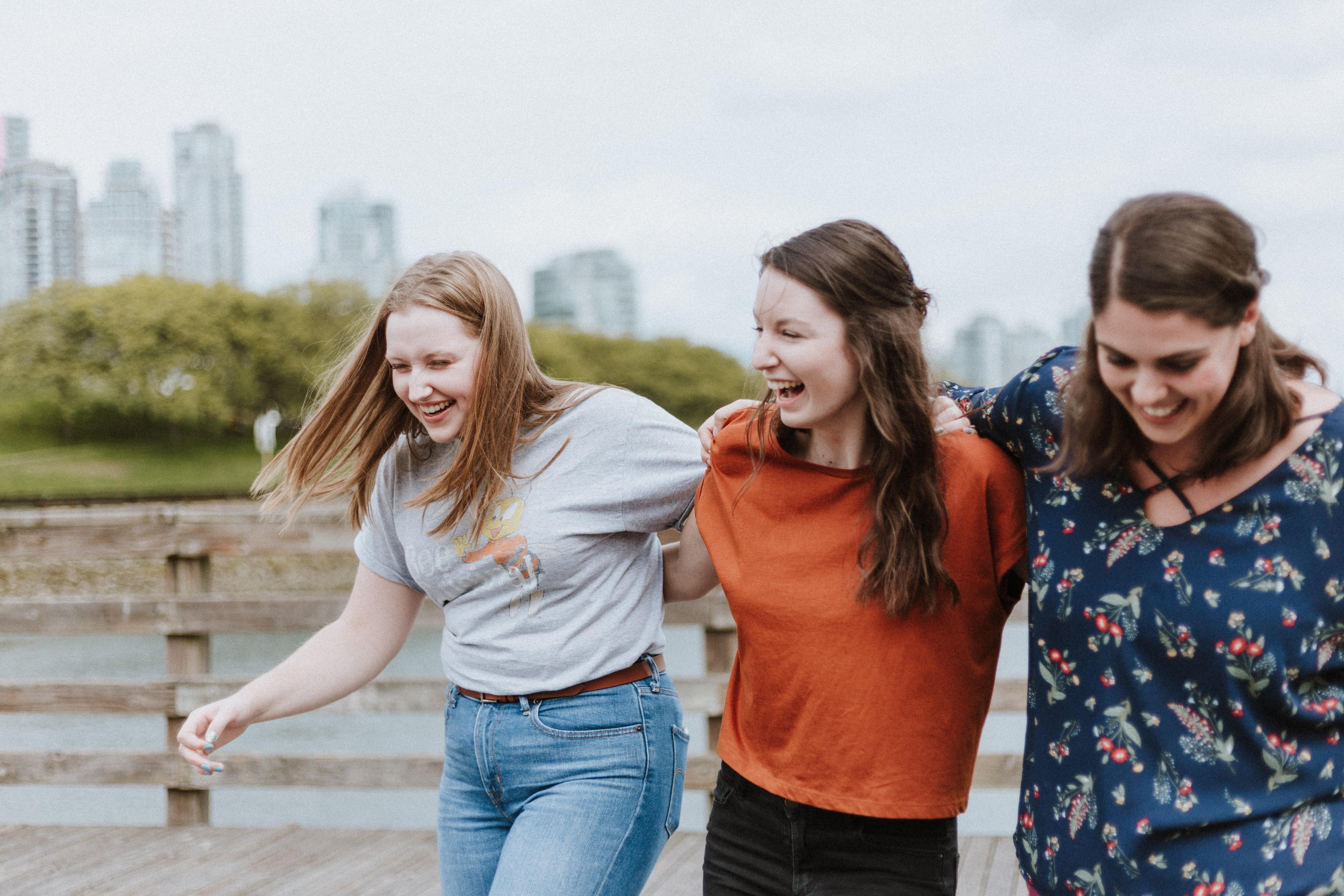 Students walking together