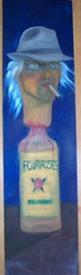Self-portrait & Four Roses Bourbon.