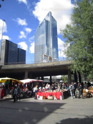 Second hand/stolen goods market at Grønland. Oslo Plaza in the background.