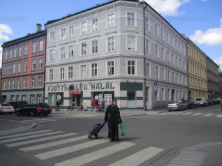 At Grønland it's easy to get halal meat. You won't find any traditional Norwegian butcher shops there.