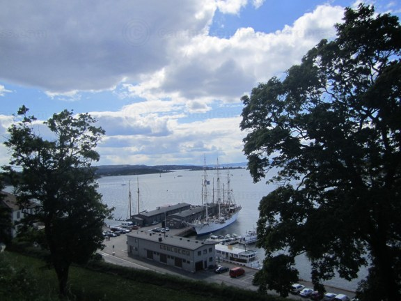Harbour seen from the walls of Akershus Fortress