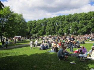 Reaggae concert in Snuteparken (the police park). Another stage for Oslo Music Fest 2012