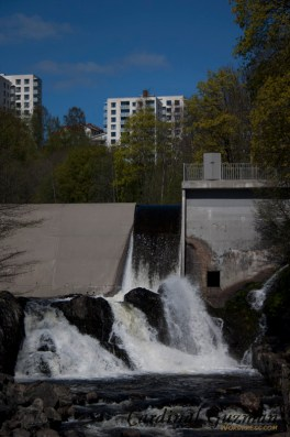 The waterfall of Nydalsdammen