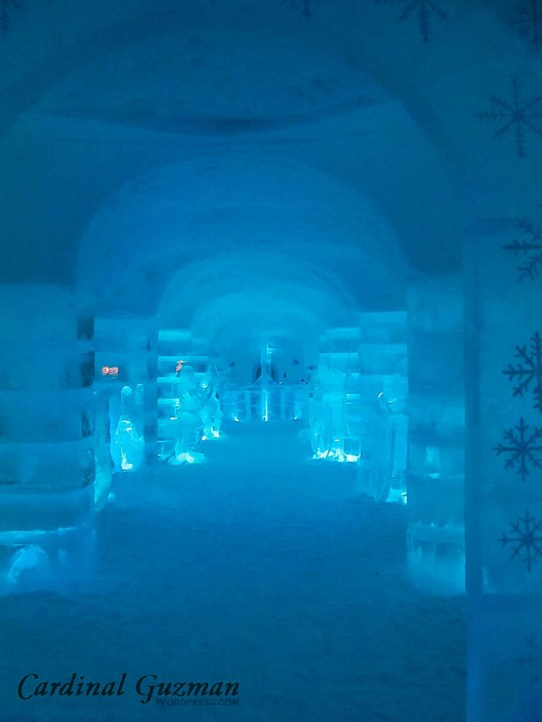 These photos are from «Sorrisniva», an ice hotel.
