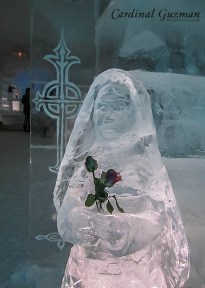 Of course there's a chapel in the ice hotel.