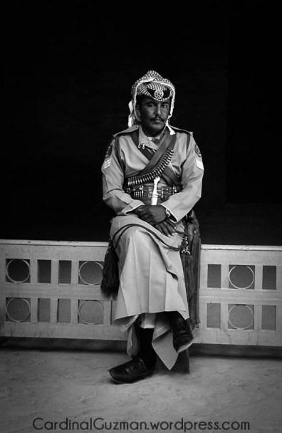 A guard in Petra, Jordan.