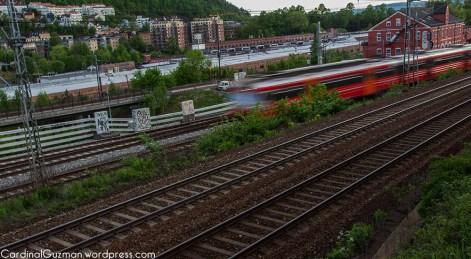 Long exposure train photography