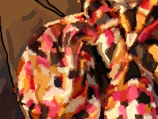 This detail / close up gives you an idea on the insane amount of brush strokes.
