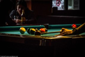 Billiards at a local pub.