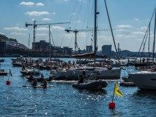 Plenty of boats in Bjørvika