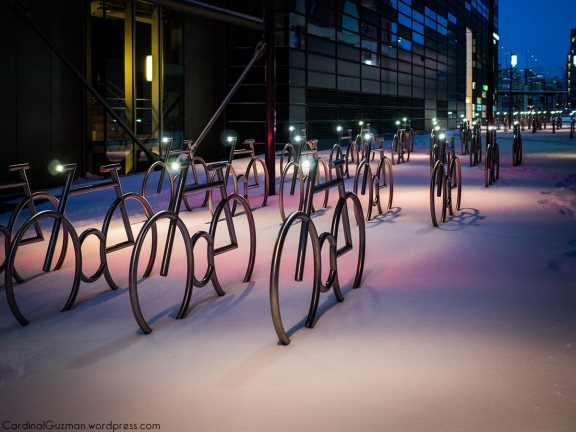 January 2016: The bikes in Bjørvika