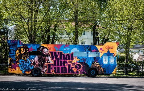 What the Funk? Graffiti decorated bus parked at Bygdøy.