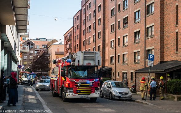 Firefighters respond to a false alarm at Grønland.