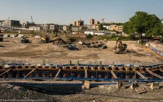 June 2016: Construction area