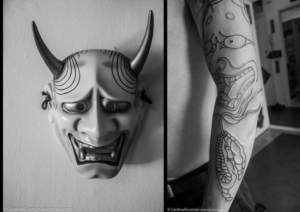 The name hannya (般若) is a Sino-Japanese word for prajna or wisdom.