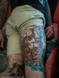 Christine Lynn - Blue Sphynx Tattoo.