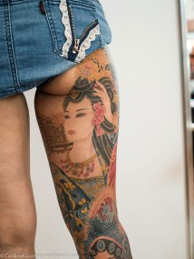 George Chou (梵天慶) from Funtian Tattoo made this ink on Jenna Huang (Jenna Taiwan Tattoo).