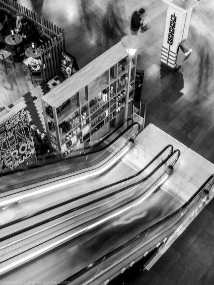 HDR escalator, long-exposure.