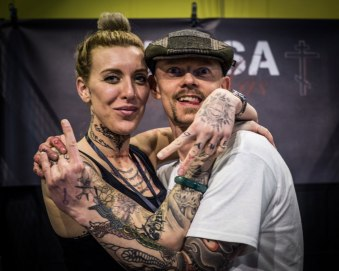 Nessa Puskas & Max at Linas Tattoo Convention. Photo: Unknown with my camera.